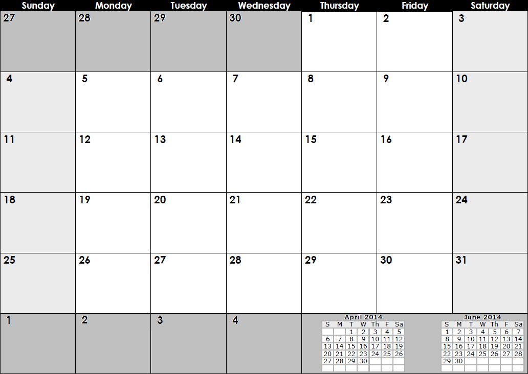 May 1997 Calendar | New Calendar Template Site