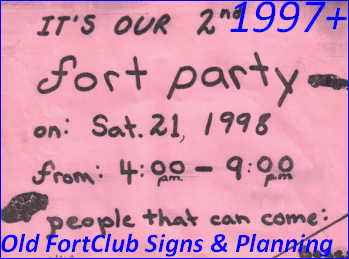 Classic FortClub Signs & Planning!